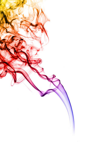 Colour Photograph - Colourful Smoke by Samuel Whitton