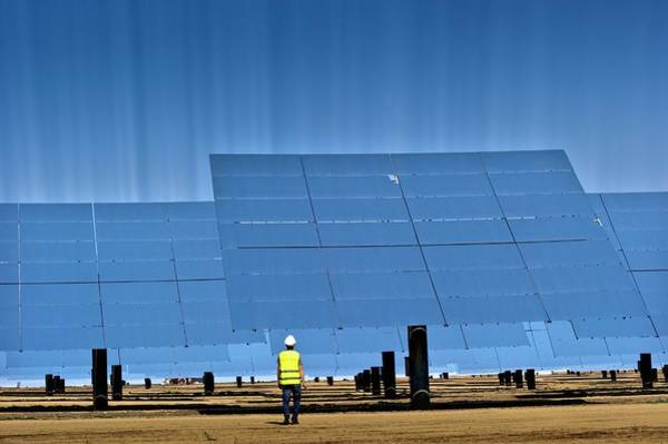 21st Century Photograph - Concentrating Solar Power Plant by Philippe Psaila