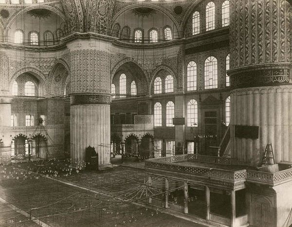 Sultan Ahmet Camii Wall Art - Photograph - Constantinople Mosque by Granger