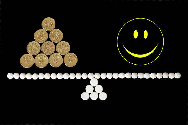 Smiley Face Wall Art - Photograph - Cost Of Drugs by Emmeline Watkins/science Photo Library