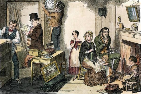 Alcoholism Painting - Cruikshank Temperance by Granger