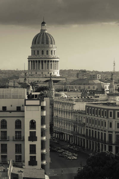 Late Afternoon Wall Art - Photograph - Cuba, Havana, Elevated City View by Walter Bibikow