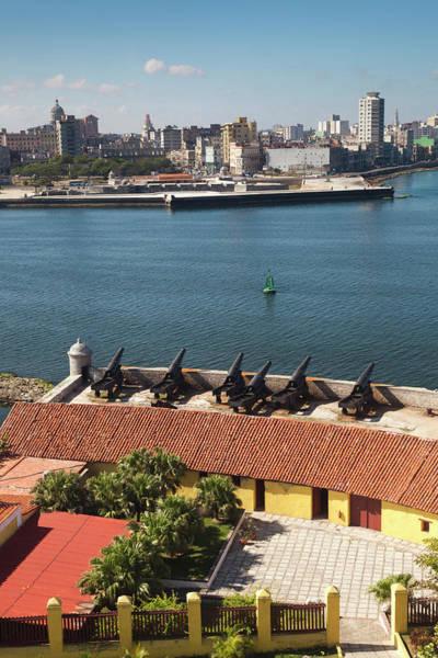 Malecon Wall Art - Photograph - Cuba, Havana, Elevated View by Walter Bibikow