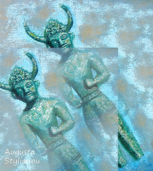Painting - Cyprus Gods Of Trade by Augusta Stylianou