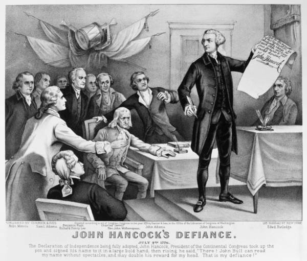 Ives Photograph - Declaration Of Independence by Granger