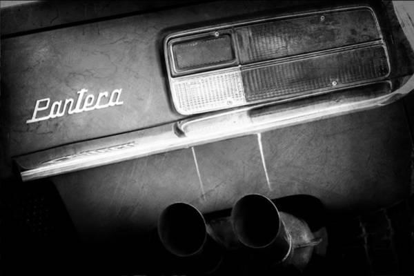 Photograph - Detomaso Pantera Taillight Emblem by Jill Reger