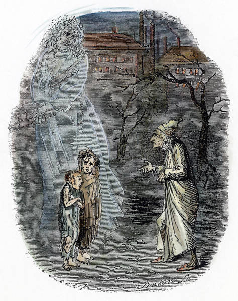 Wall Art - Drawing - Dickens Christmas Carol, 1843 by Granger
