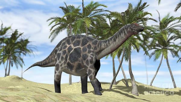 Digital Art - Dicraeosaurus Walking by Kostyantyn Ivanyshen