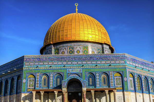 Wall Art - Photograph - Dome Of The Rock Arch, Temple Mount by William Perry