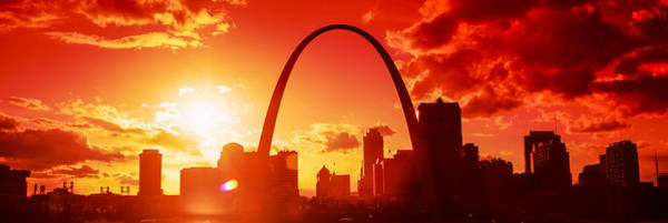 Wall Art - Photograph - Downtown Buildings And Gateway Arch by Panoramic Images