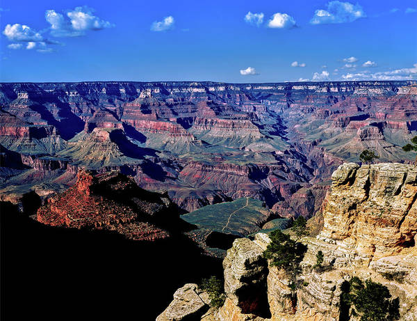 South Rim Photograph - Elevated View Of The Rock Formations by Panoramic Images