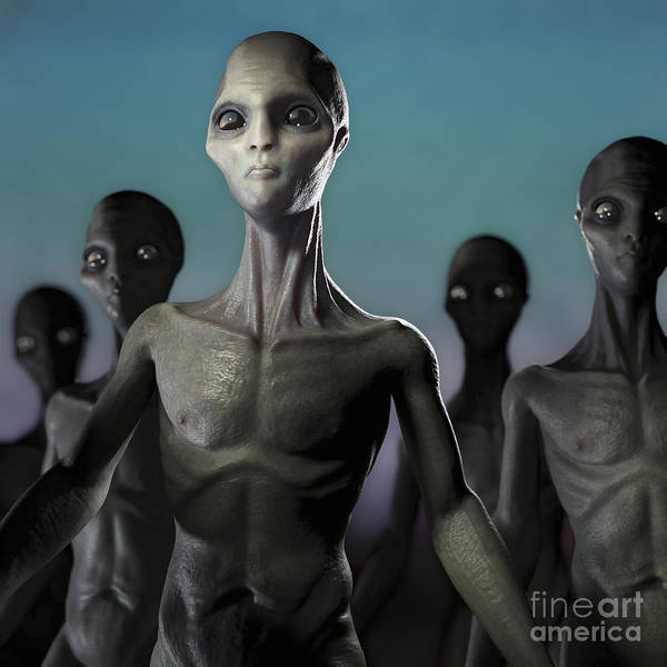 Photograph - Extraterrestrial Life by Science Picture Co