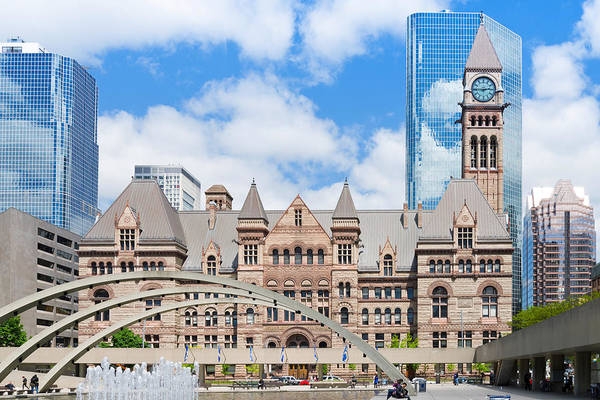 Courthouse Towers Wall Art - Photograph - Facade Of A Government Building by Panoramic Images