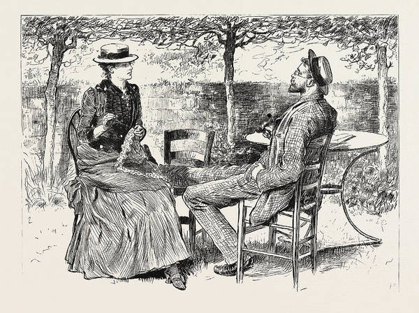 Wall Art - Drawing - First Person Singular by Charles Stanley Reinhart (may 16, 1844 - August 30, 1896), American