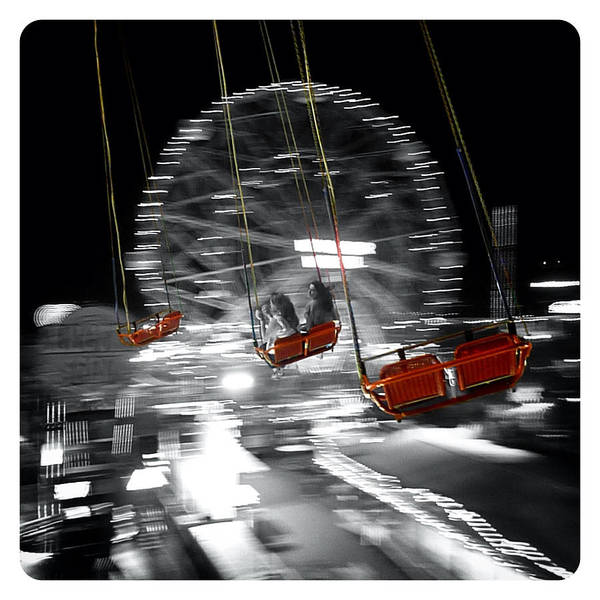 Photograph - Flying On The Carousel by Natasha Marco