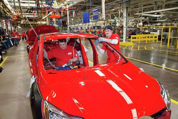 Manufacturing Plant Wall Art - Photograph - Ford Focus Assembly Line by Jim West
