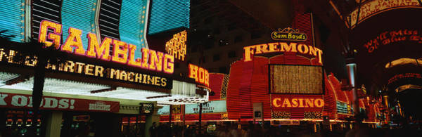 Street Machine Photograph - Fremont Street Experience Las Vegas Nv by Panoramic Images
