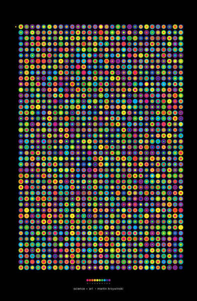 Count Digital Art - Frequency Distribution Of Digits In Pi by Martin Krzywinski