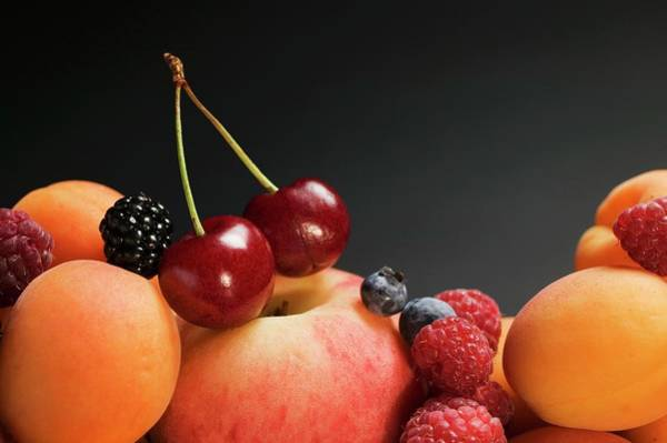 Wall Art - Photograph - Fruit Still Life With Stone-fruit And Berries by Foodcollection