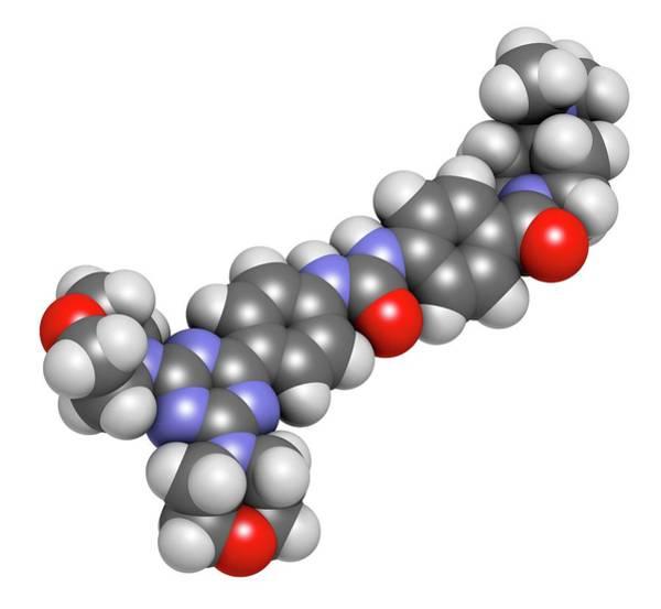 Wall Art - Photograph - Gedatolisib Cancer Drug Molecule by Molekuul/science Photo Library