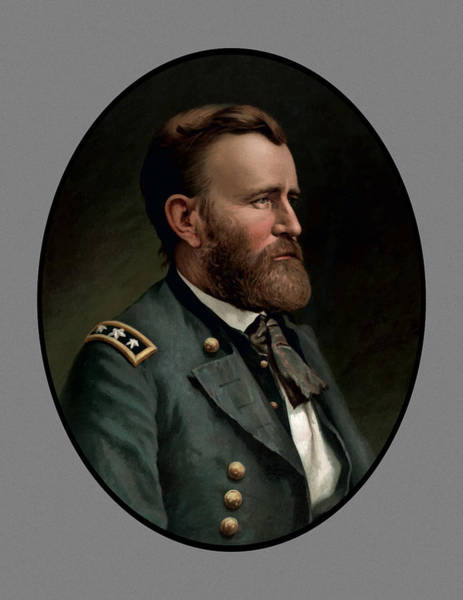 U. S. Presidents Wall Art - Painting - General Grant - Three by War Is Hell Store