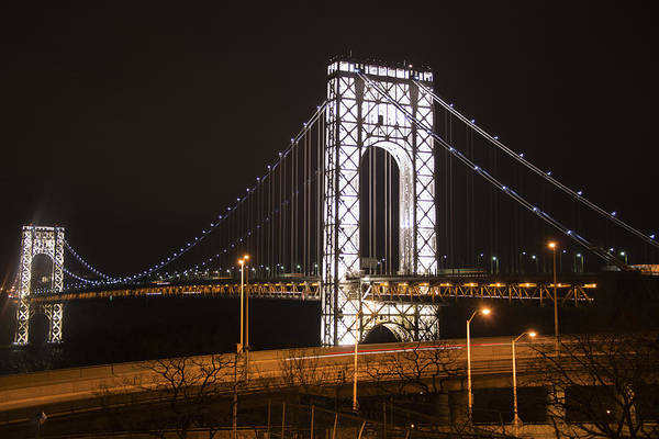 George Washington Bridge On President's Day Art Print