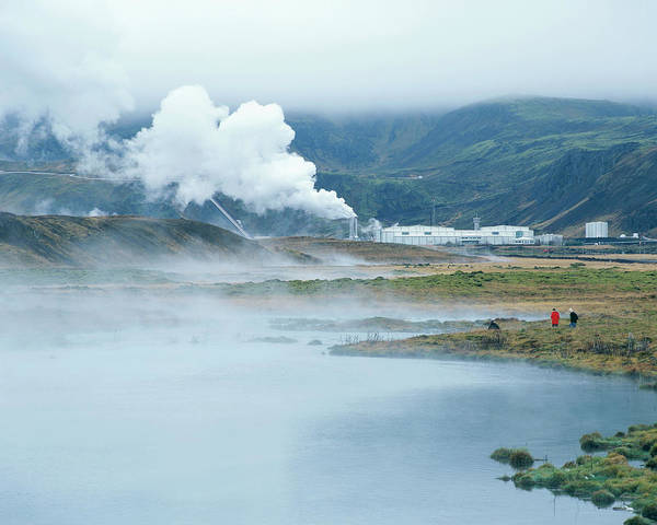 Wall Art - Photograph - Geothermal Power Station by Martin Bond/science Photo Library