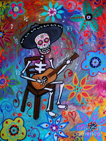 Mexican Guitar Player Painting - Gitarero by Pristine Cartera Turkus