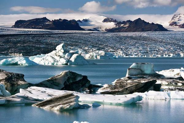 Glacial Photograph - Glacial Lake by Steve Allen/science Photo Library