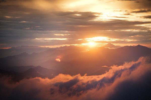 Wall Art - Photograph - Golden Sunset Himalayas Mountain Nepal by Raimond Klavins
