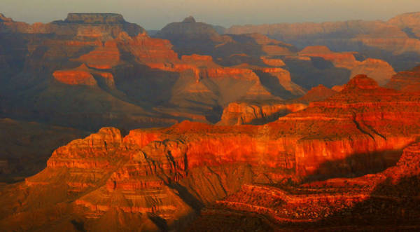 Mather Point Photograph - Grand Canyon Sunset by Stephen  Vecchiotti