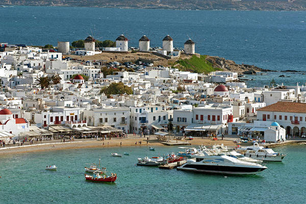 Aegean Sea Photograph - Greece, Mykonos, Chora by David Noyes