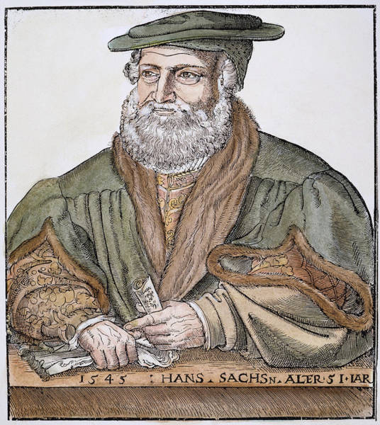Wall Art - Painting - Hans Sachs (1494-1576) by Granger
