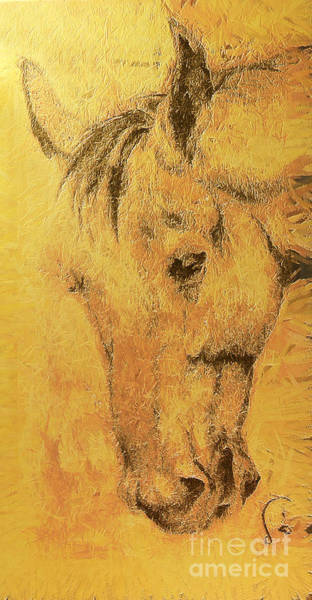High Jump Painting - Horse Portrait by Odon Czintos