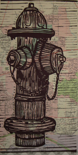 Drawing - Hydrant by William Cauthern
