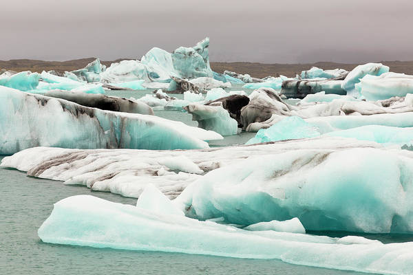 Ecosystem Photograph - Iceberg Formations Broken by Tom Norring