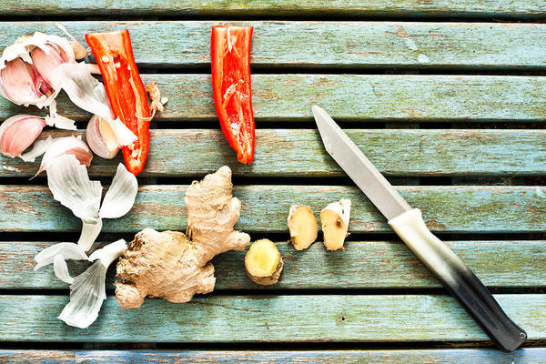 Blades Photograph - Ingredients by Tom Gowanlock