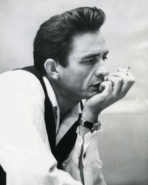 Vintage Photograph - Johnny Cash by Retro Images Archive