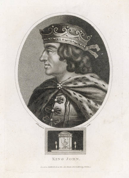 Wall Art - Drawing - King John Of England  Reigned  1199 - by Mary Evans Picture Library
