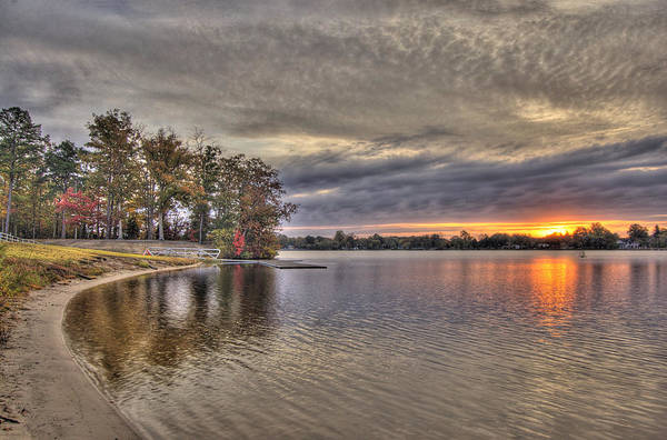4 Lake Lenape W Sunrise6 Art Print
