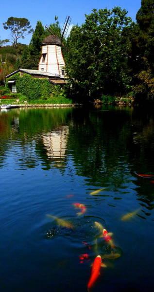 Photograph - Lake Shrine Temple by Jeff Lowe
