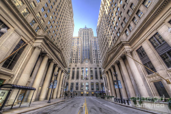 Loop Photograph - Lasalle Street In Chicago by Twenty Two North Photography