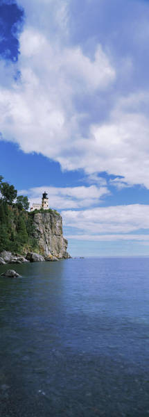 Wall Art - Photograph - Lighthouse On A Cliff, Split Rock by Panoramic Images