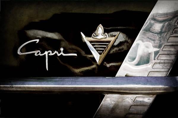 Capri Wall Art - Photograph - Lincoln Capri Emblem by Jill Reger