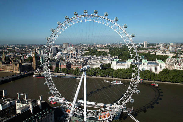 Wall Art - Photograph - London Eye by Mark Thomas/science Photo Library