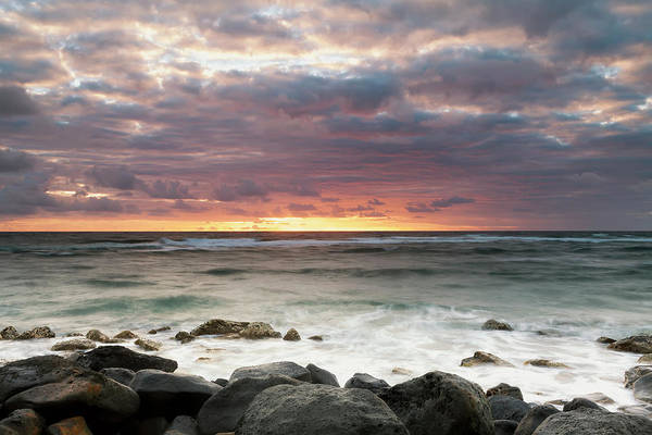 Wall Art - Photograph - Long Exposure Of The Surf Along Wailua by Ian Ludwig