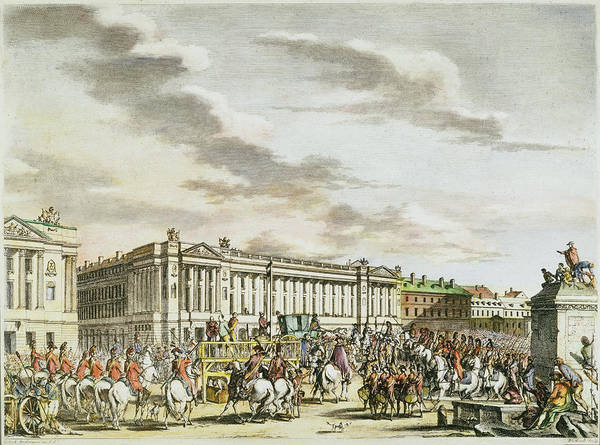 Scaffold Painting - Louis Xvi Execution, 1793 by Granger
