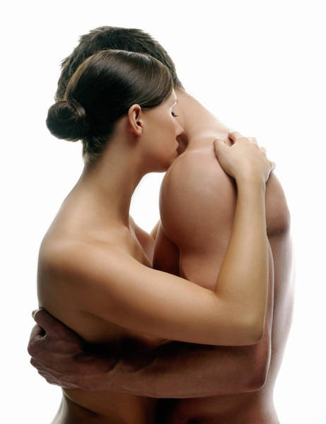 Cuddle Photograph - Lovers Embracing by Kate Jacobs/science Photo Library