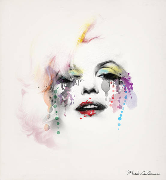 Wall Art - Painting - Marilyn Monroe by Mark Ashkenazi