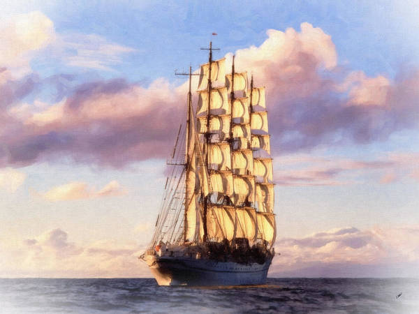 Painting - 4 Mast Barque by Dean Wittle